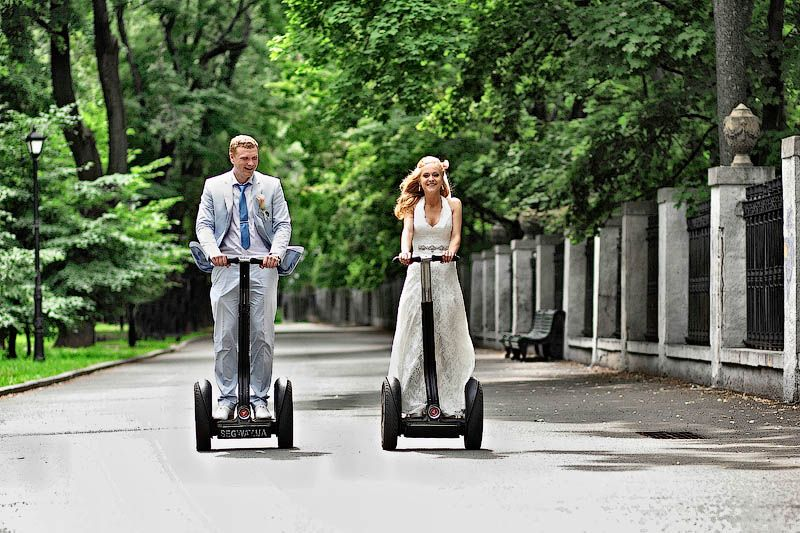 Segway Wedding Transport