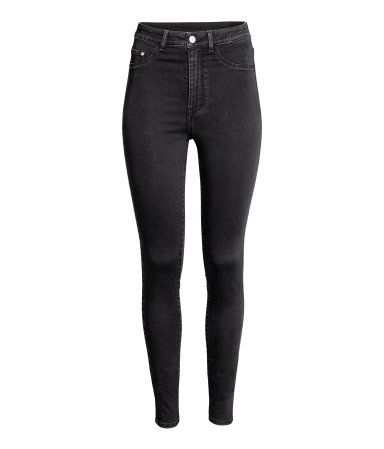 6fd7ff20341ab Jeggings in washed superstretch denim with a high waist. Mock front pockets,  regular back pockets, and skinny legs.