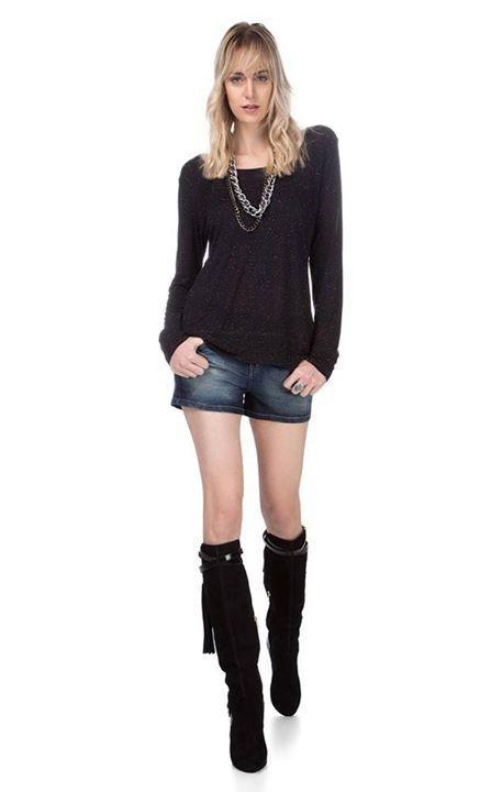 Eu curto e você ?   Short Jeans Pala Arredondada  MAIS DETALHES!  http://imaginariodamulher.com.br/look/?go=2cYUiyV