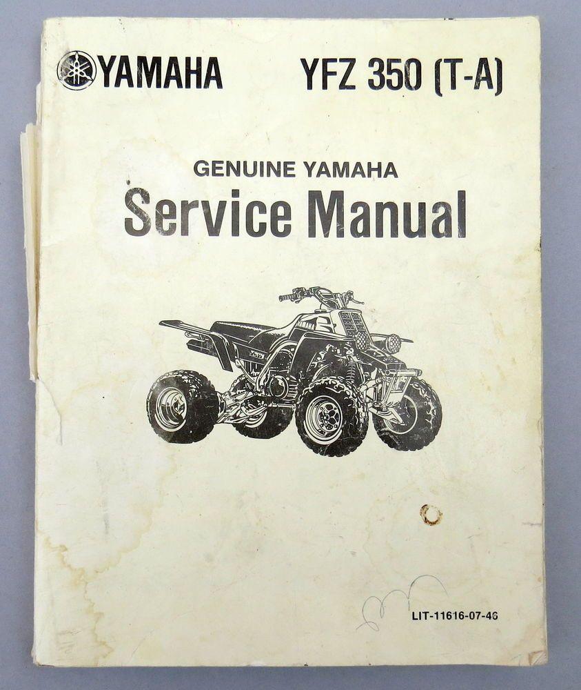 Yamaha YFZ350 (T-A) SUPPLEMENTARY SERVICE MANUAL 1989 Vintage Banshee ATV