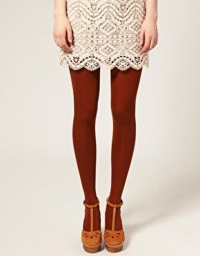 Deep red tights. Thigh-highs would be even better. Sleevey shrug? I think so.