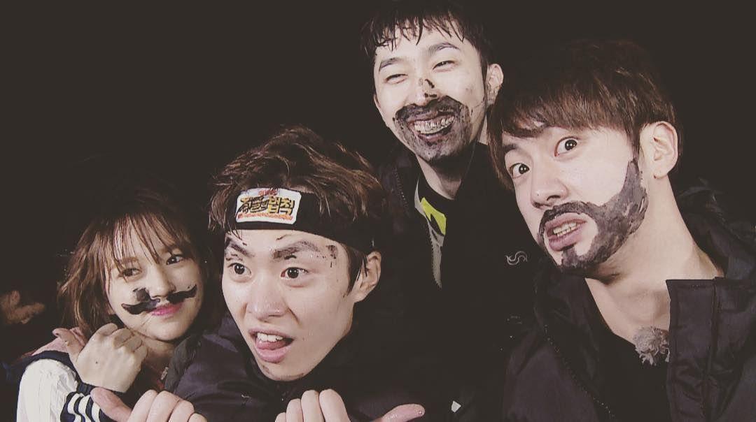 Jin ❤ Seokjin with his Law of The Jungle fam! (sleepyinsta