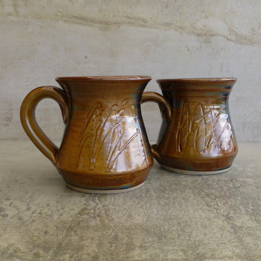 2 x Australian Studio Pottery Coffee Mugs by Yarra Glen
