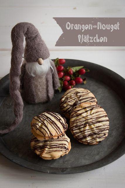 Schnelle Weihnachtskekse.Orangen Nougat Plätzchen Lecker Weihnachtsbäckerei Nougat