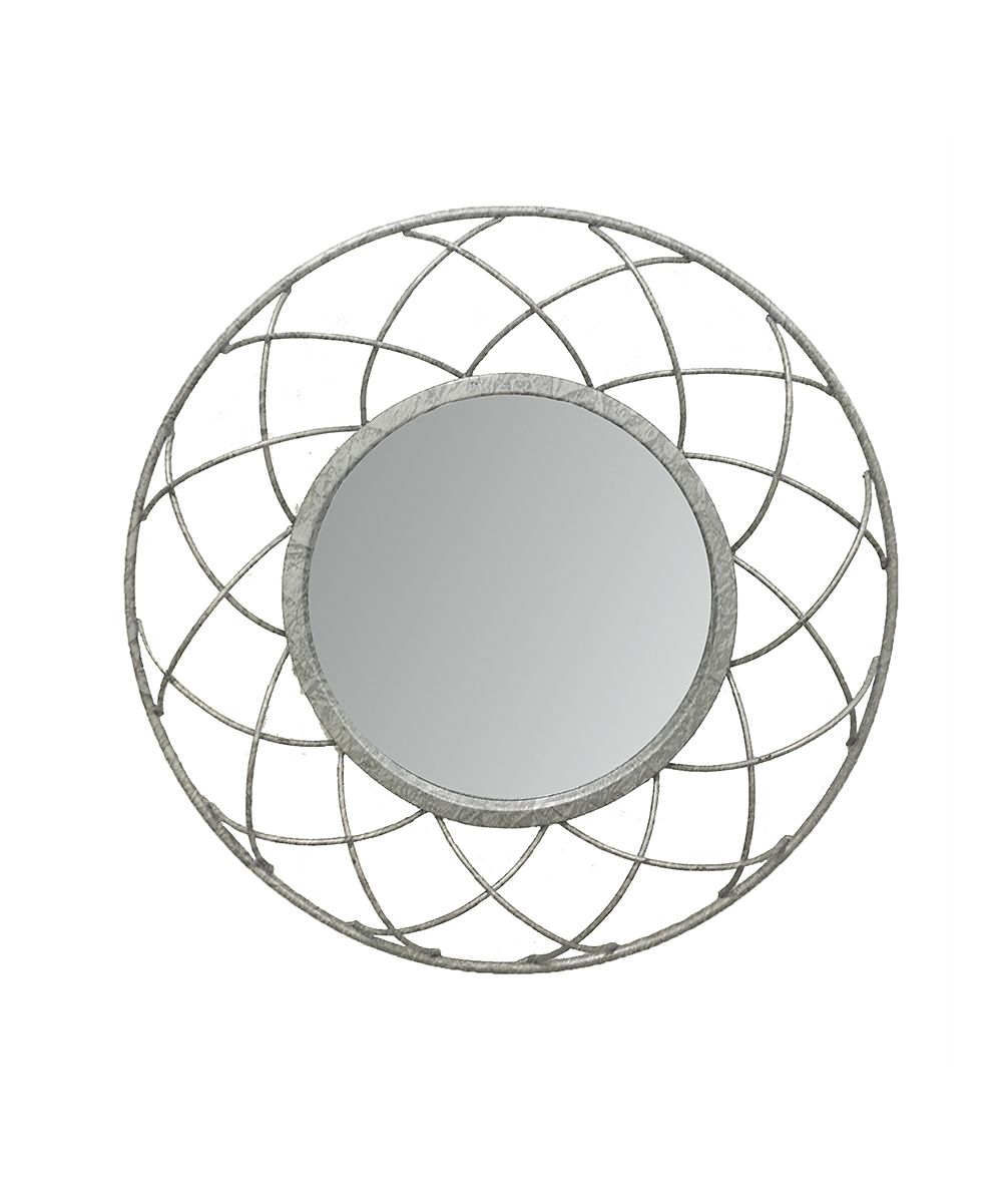 Large geometric round metal wall mirror metal walls and products