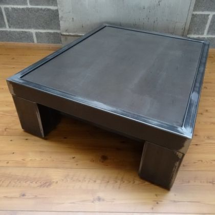 And Steel Salon Un Brut IndustrielWood Métal Table Style 80wOXnkPNZ