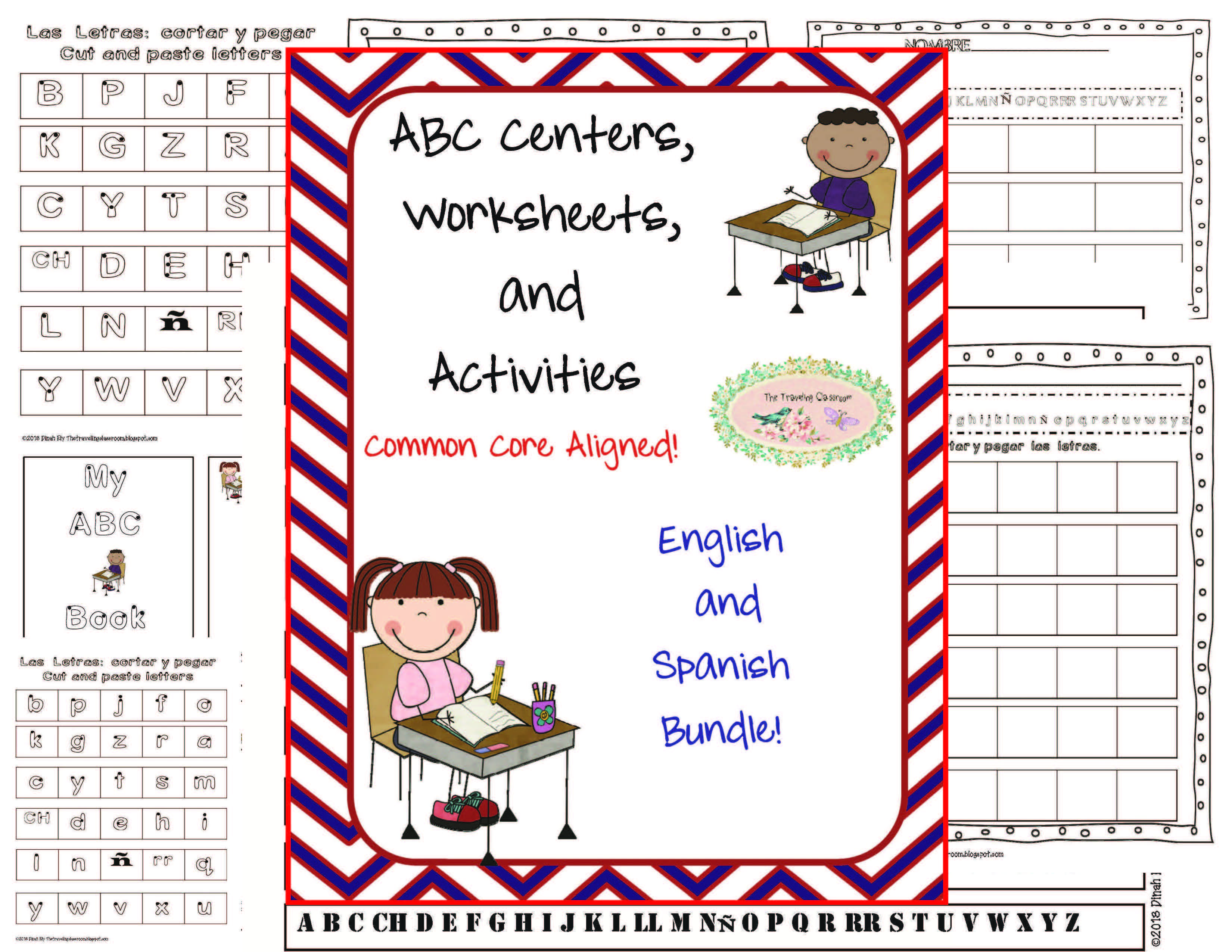 Abc Centers Worksheets Activities Common Core Spanish