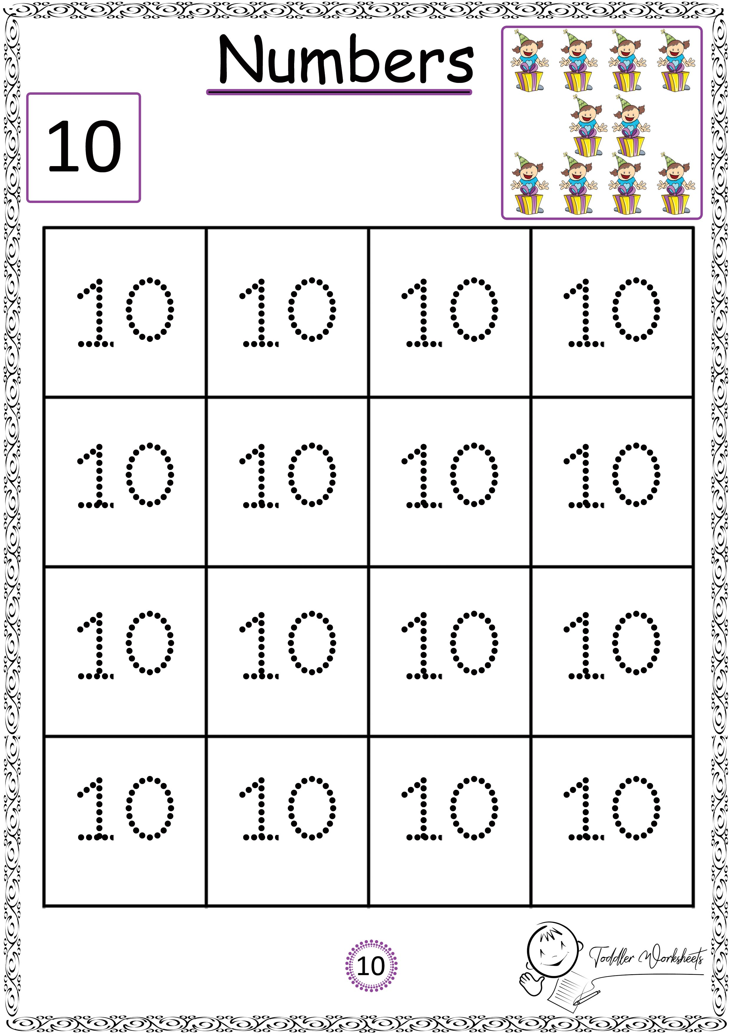 Free Preschool Numbers Worksheets With Images