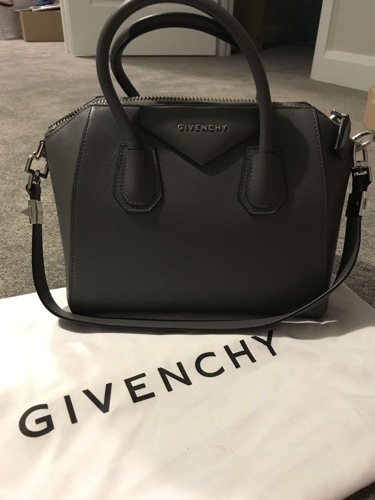 a63cd6f5c940 Authentic GIVENCHY Small Antigona Tote Bag In Goat Leather. Dark Grey.  Perfect.  . Visit. January 2019