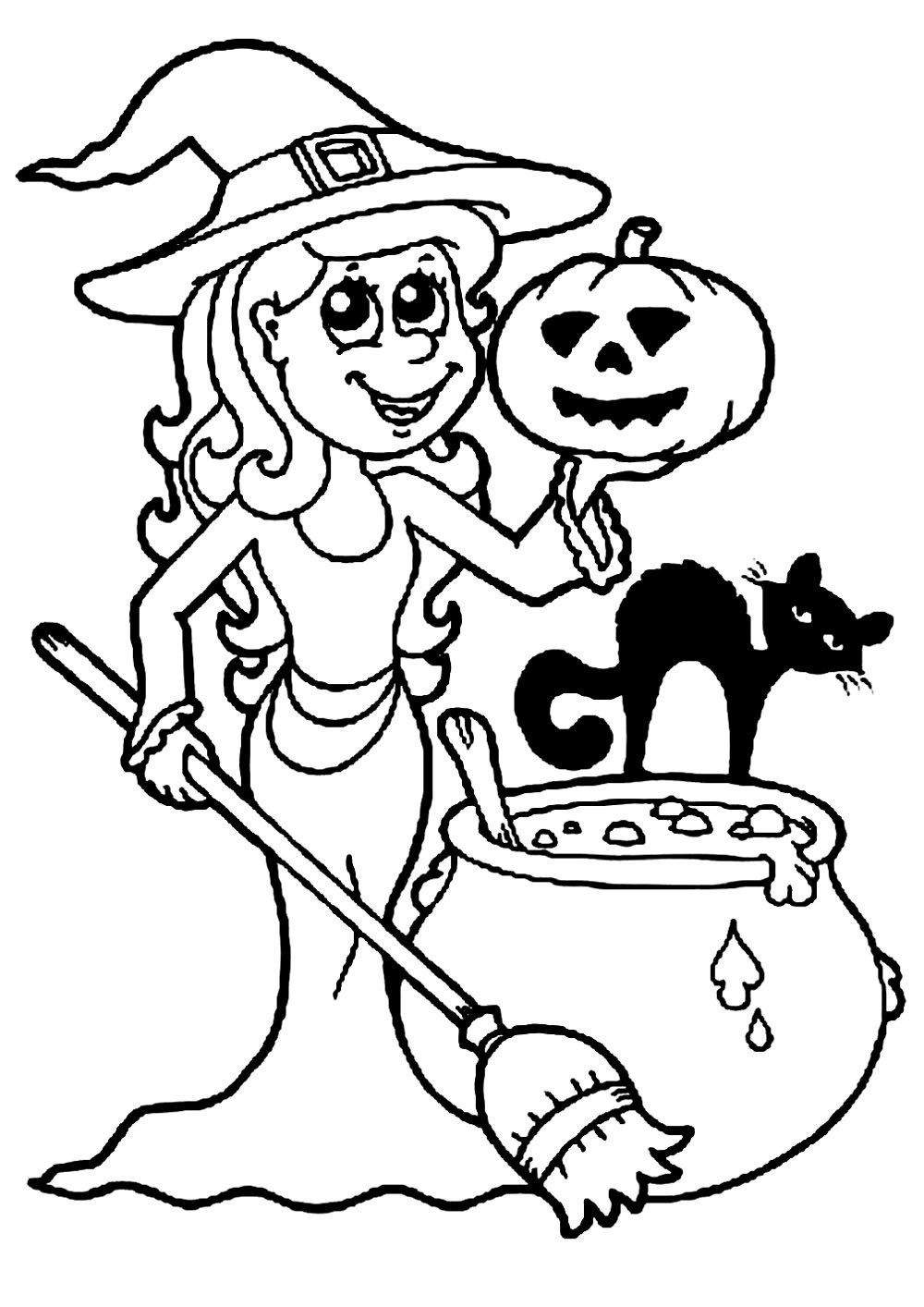 Halloween Coloring Worksheets For Preschoolers Halloween Free To Color For Kids Halloween Coloring Book Halloween Coloring Pages Free Halloween Coloring Pages [ 1414 x 1000 Pixel ]