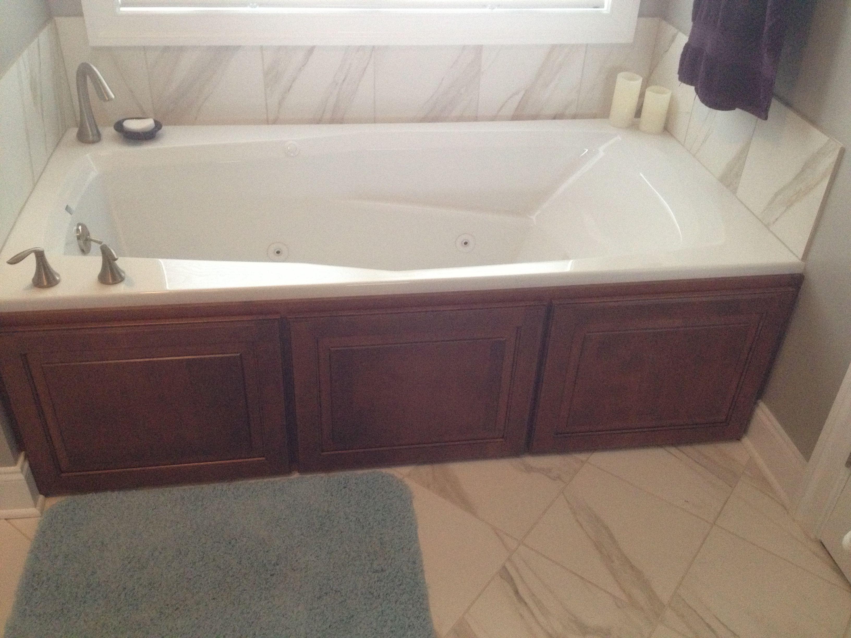 Custom Jacuzzi tub surround | Work by Signature Cabinetry & Design ...