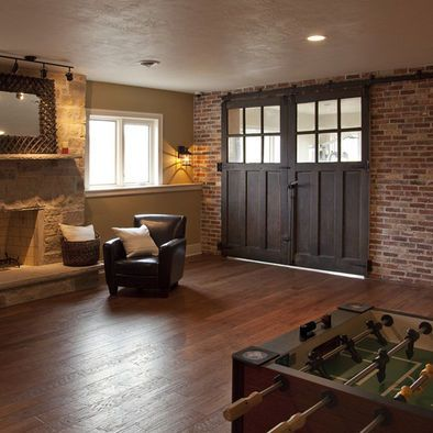 Media Room Brick Wall Design, Pictures, Remodel, Decor and Ideas