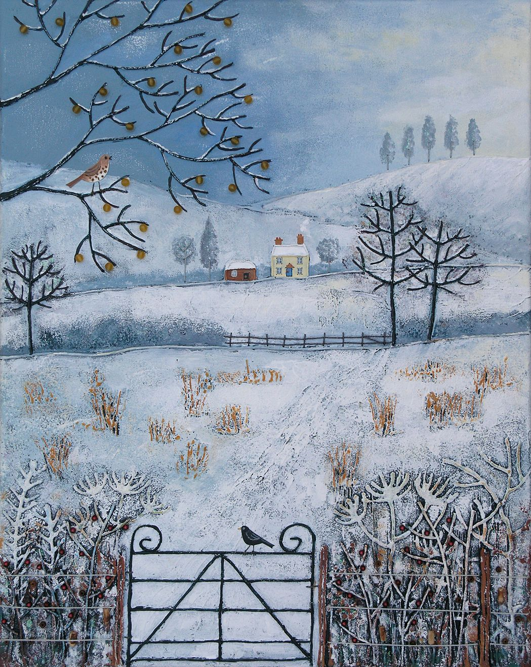 Pin By Fiona Guglielmi On My Art The Four Seasons Art Naive Art Winter Art