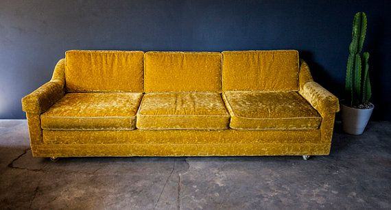 Oh Baby This Is One Sweet Sofa Vintage Gold Velvet Sofa In Perfect Condition Velvet Sofa Sofa Sofa Inspiration
