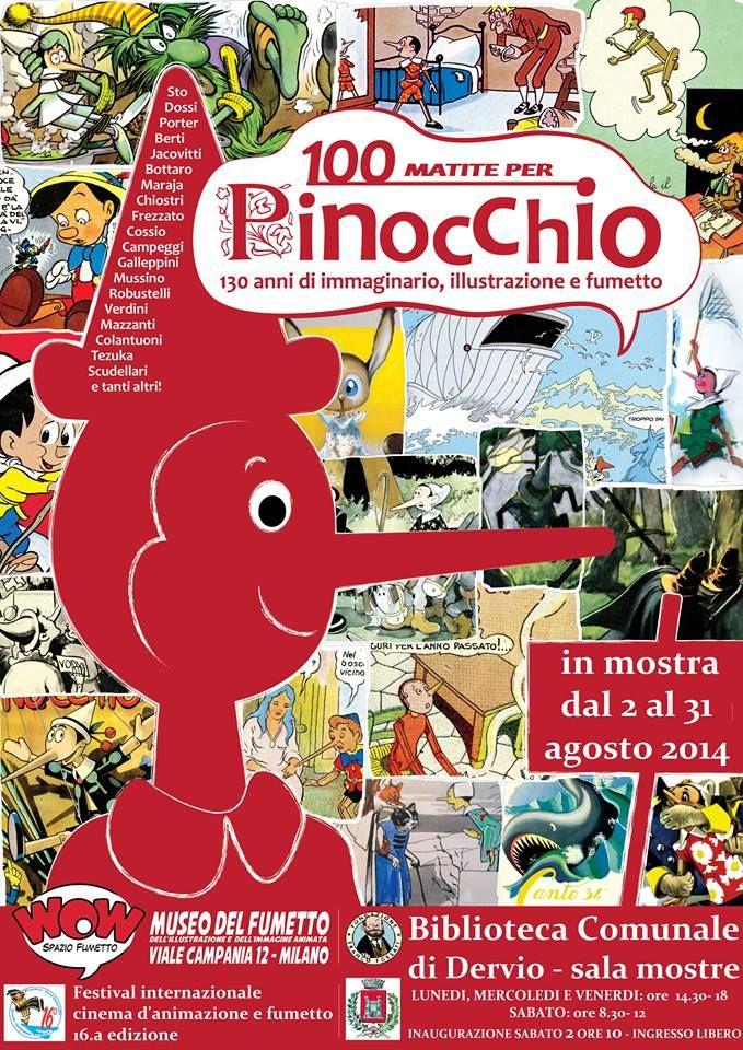 """Evento: mostra """"100 Matite per Pinocchio"""" a Dervio (LC)"""