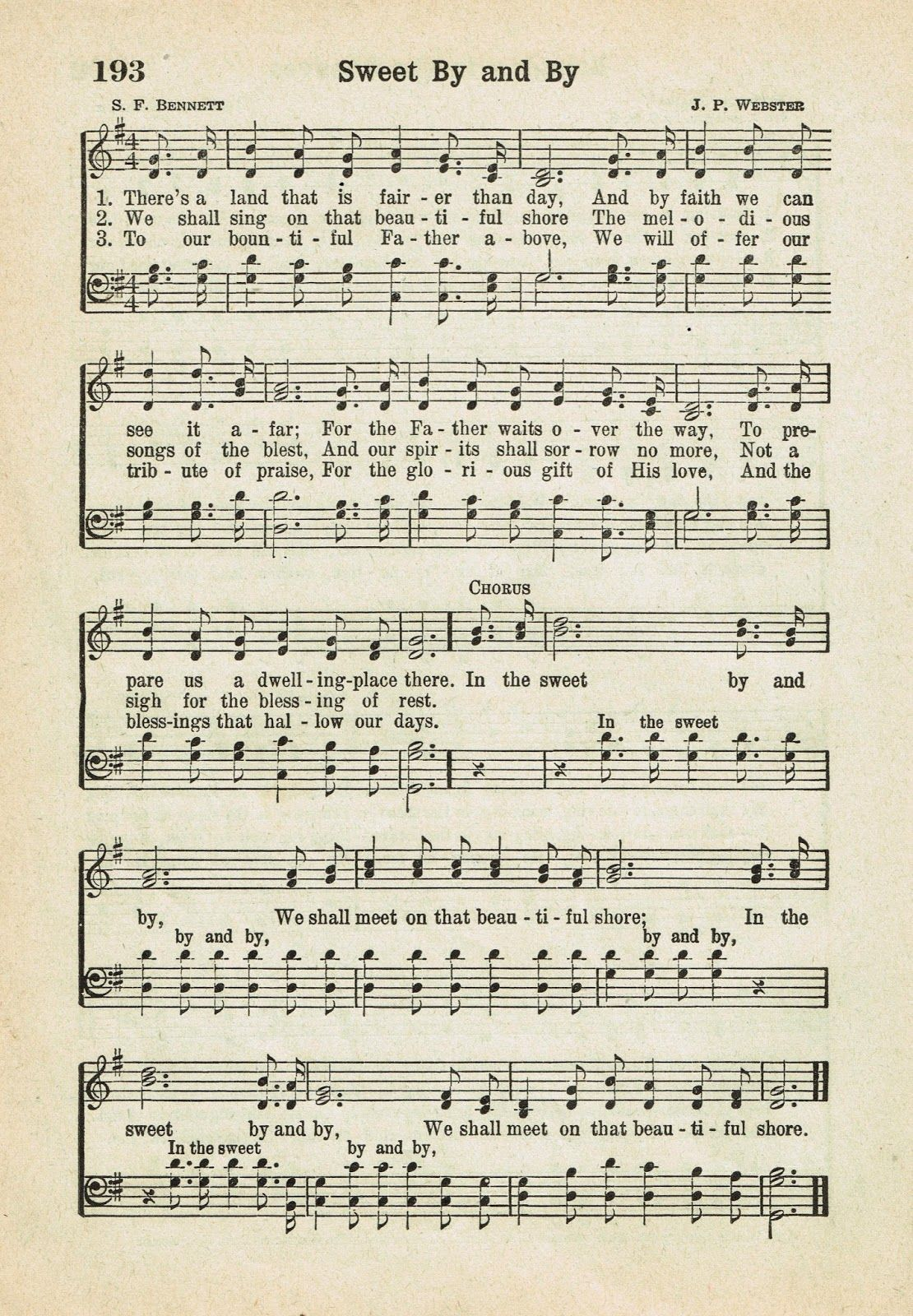 photograph regarding Printable Hymns referred to as Lovable Via and By means of ~ Printable Antique Hymn Webpage against Accurately