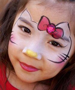 Maquillage Halloween Hello Kitty.Hello Kitty Face Painting Face Painting Ideas Kitty Face Paint