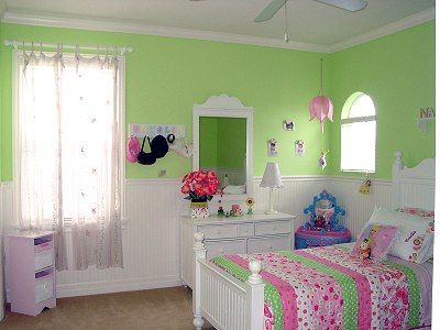 Girls Bedroom Green paint ideas for 7 year old dd's room | idea paint, pink room and