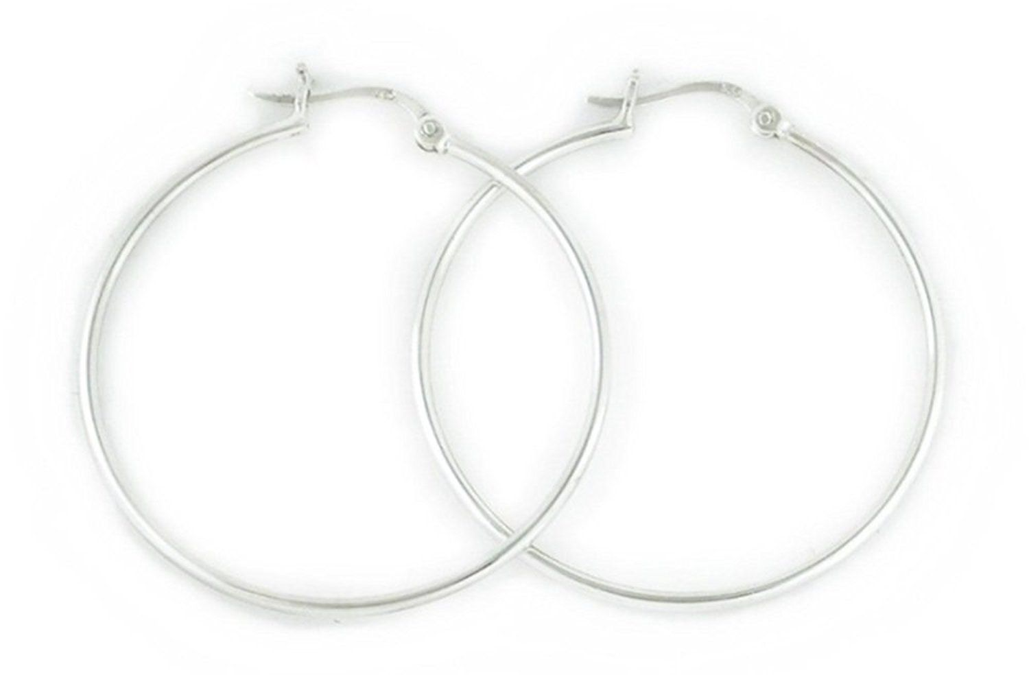 Polished 1.5mm x 70mm Snap Hoop Design Sterling Silver Earrings -- Check out the image by visiting the link. (This is an affiliate link and I receive a commission for the sales)