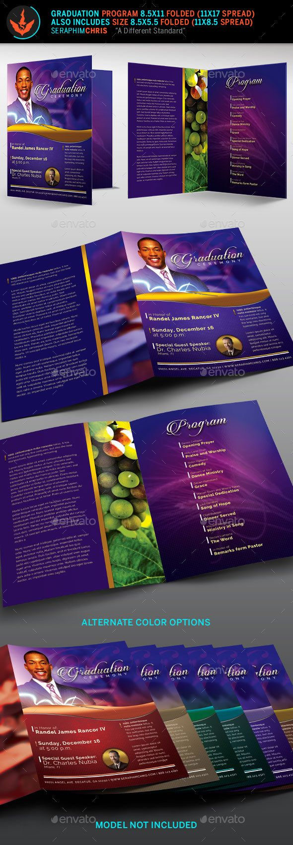 pastor s graduation ceremony program template by seraphimchris
