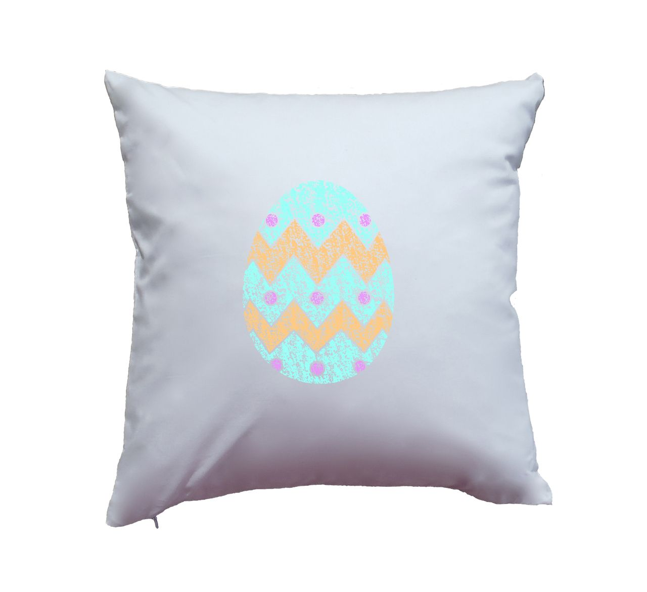 Apericots pillow cover with easter egg easter print design on