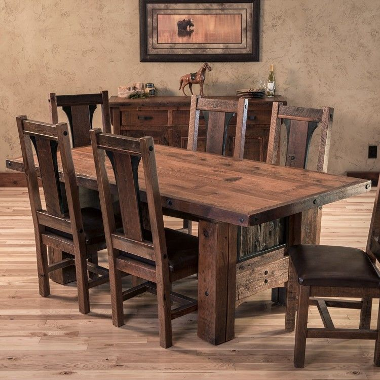 Adventure Mountain Barn Wood Dining Table Collection Rustic