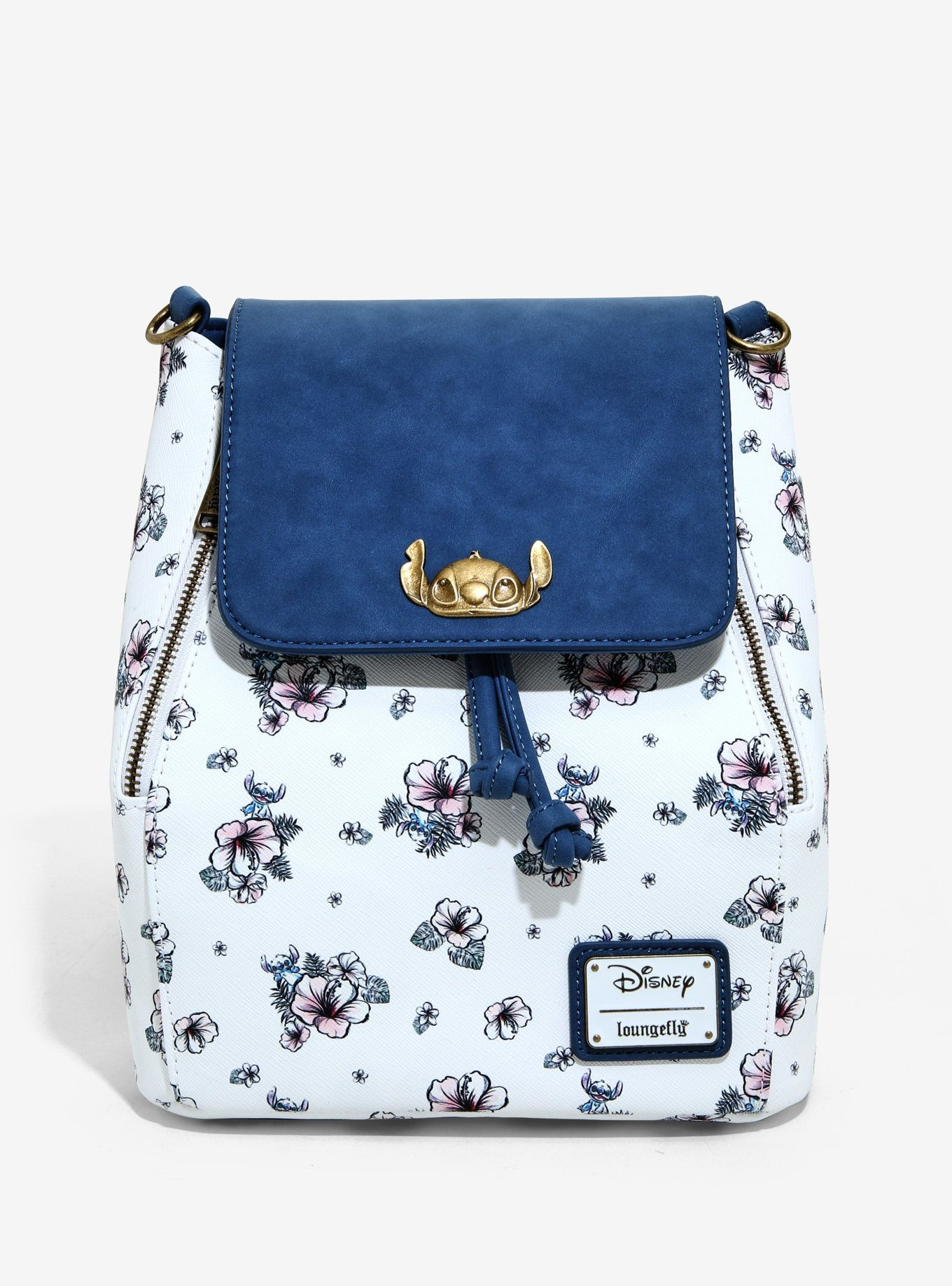 Loungefly disney lilo stitch floral mini backpack