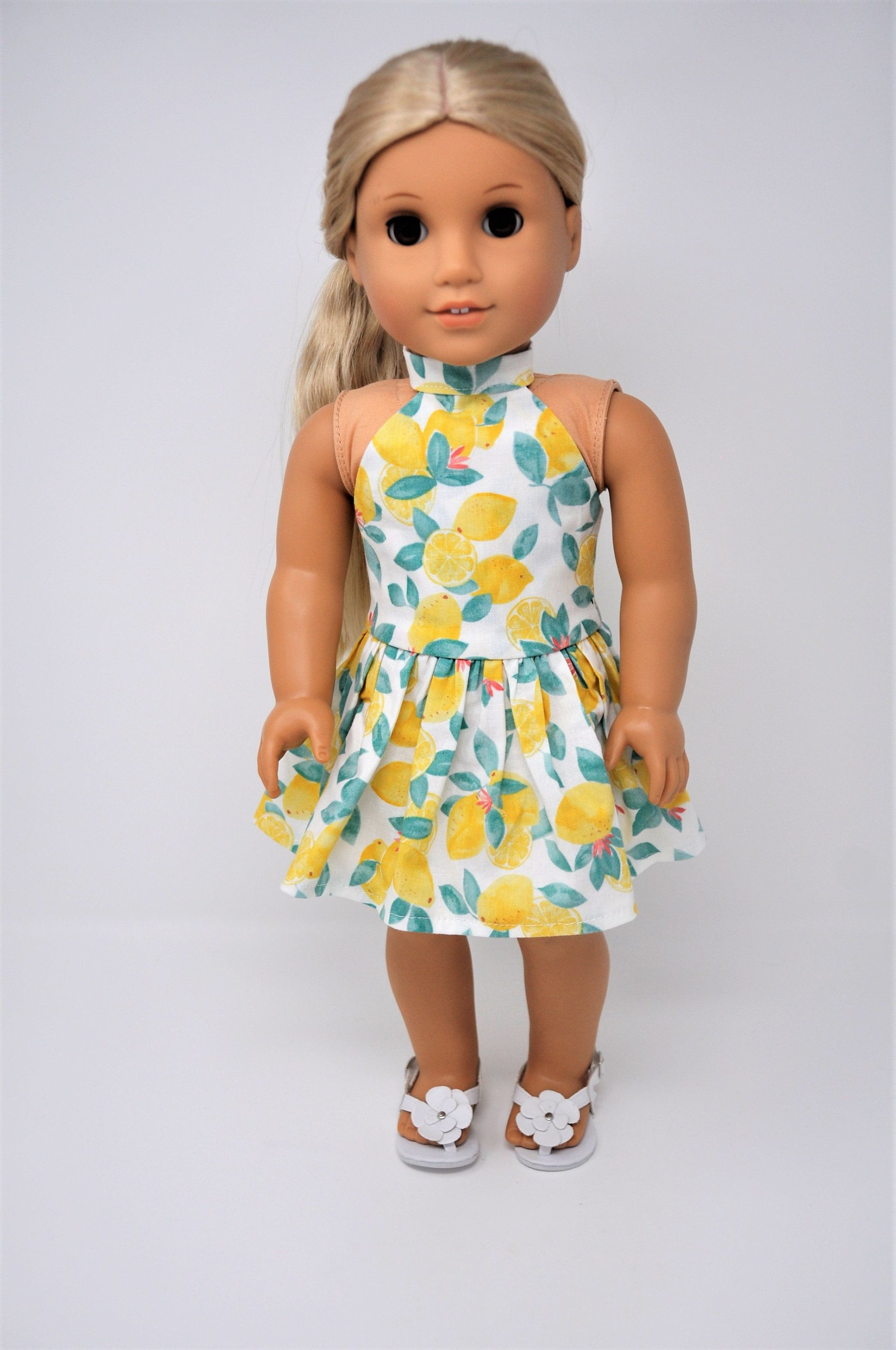 Dress for  Blue Dress with Butterfly Decoration Doll Beautiful Dress FZ