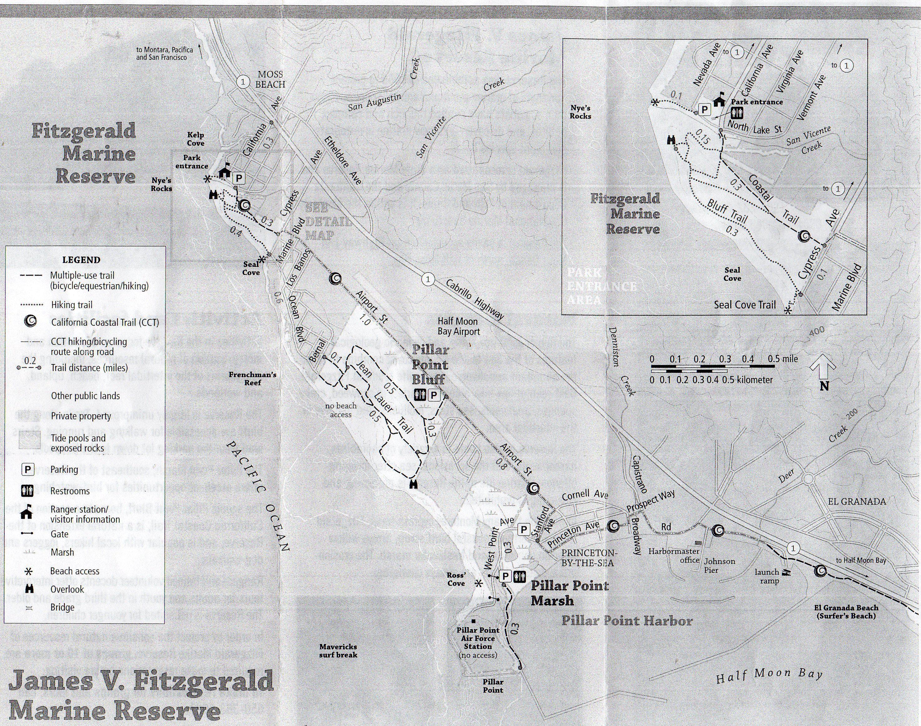 Fitzgerald Marine Reserve Map San Mateo County Marine Reserves California Coastline