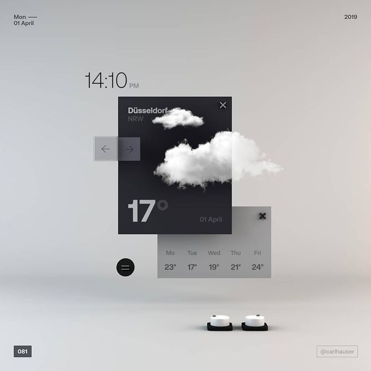 081 - simple floating weather app . . . hope you all have a great start into the week ✌️really love this microsoft stage fluent design #interfacedesign
