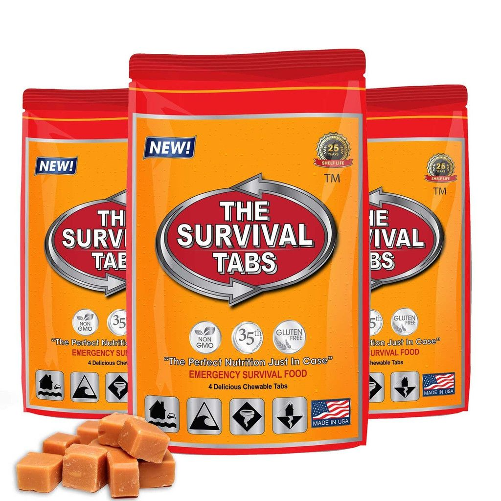 1Day Supply Survival Tabs 25 Years Shelf Life (12 Tabs