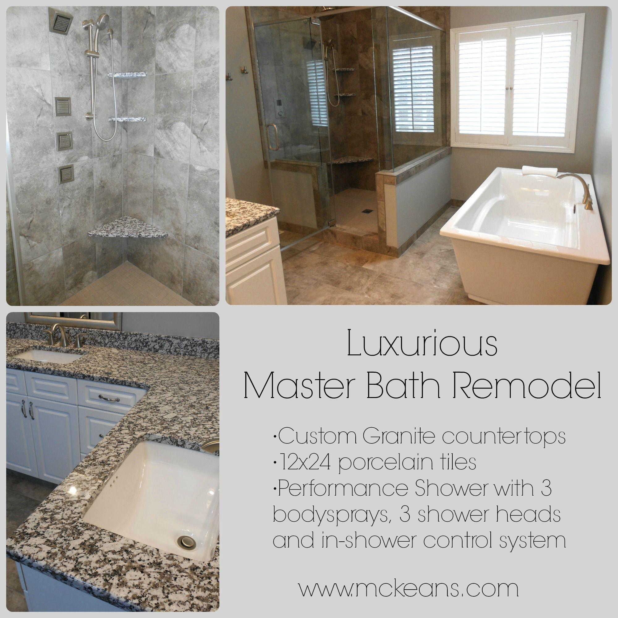 Master Bathroom Remodel -Custom Granite Countertops -12x24 porcelain ...