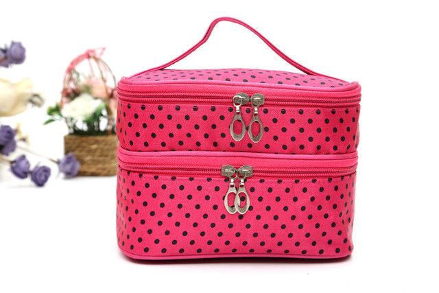 4f7ae24afd3b Beautician Vanity Necessarie Neceser Women Toiletry Travel Kit Lingerie Make  Up Makeup Case Cosmetic Bag Organizer Storage Pouch