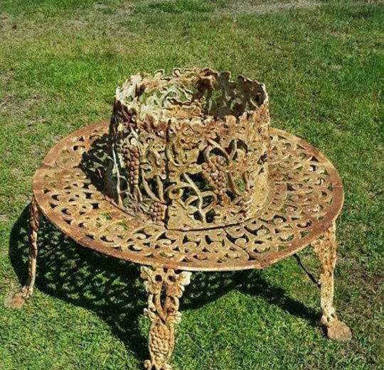 Heavy Cast Iron Grape Vine Tree Bench By Thehomeofdramarose With