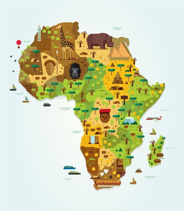 Image result for africa map illustration  Illustration  Graphic