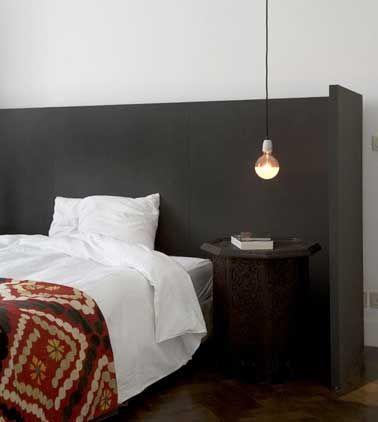 10 astuces déco pas chères pour fabriquer une tête de lit Bedrooms - Peindre Table De Chevet