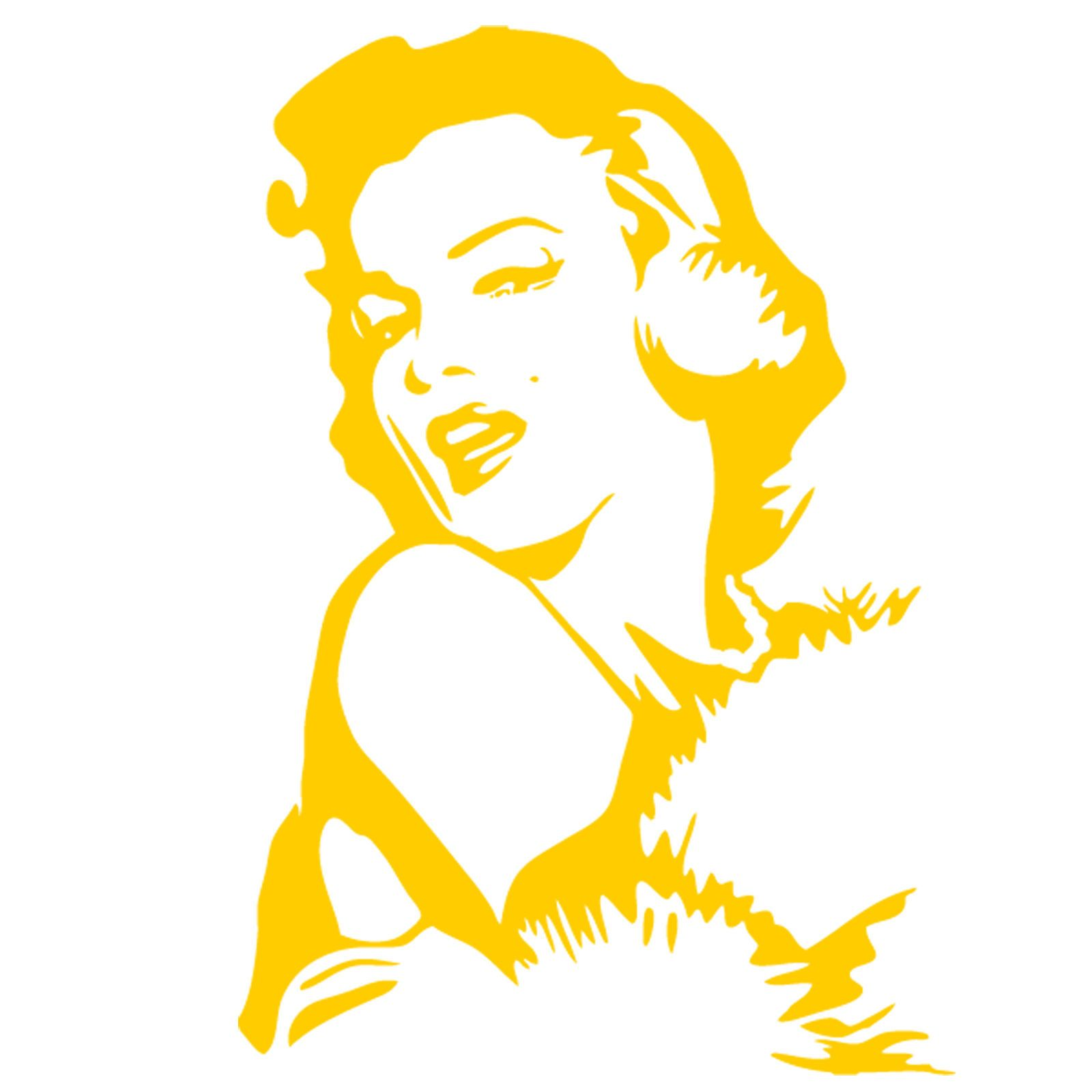 Vinyl Wall Art Decal Sticker - Marilyn Monroe Portrait - Any Color ...