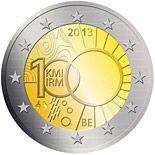 2 euro 100 years of the Royal Meteorological Institute - 2013 - Series: Commemorative 2 euro coins - Belgium