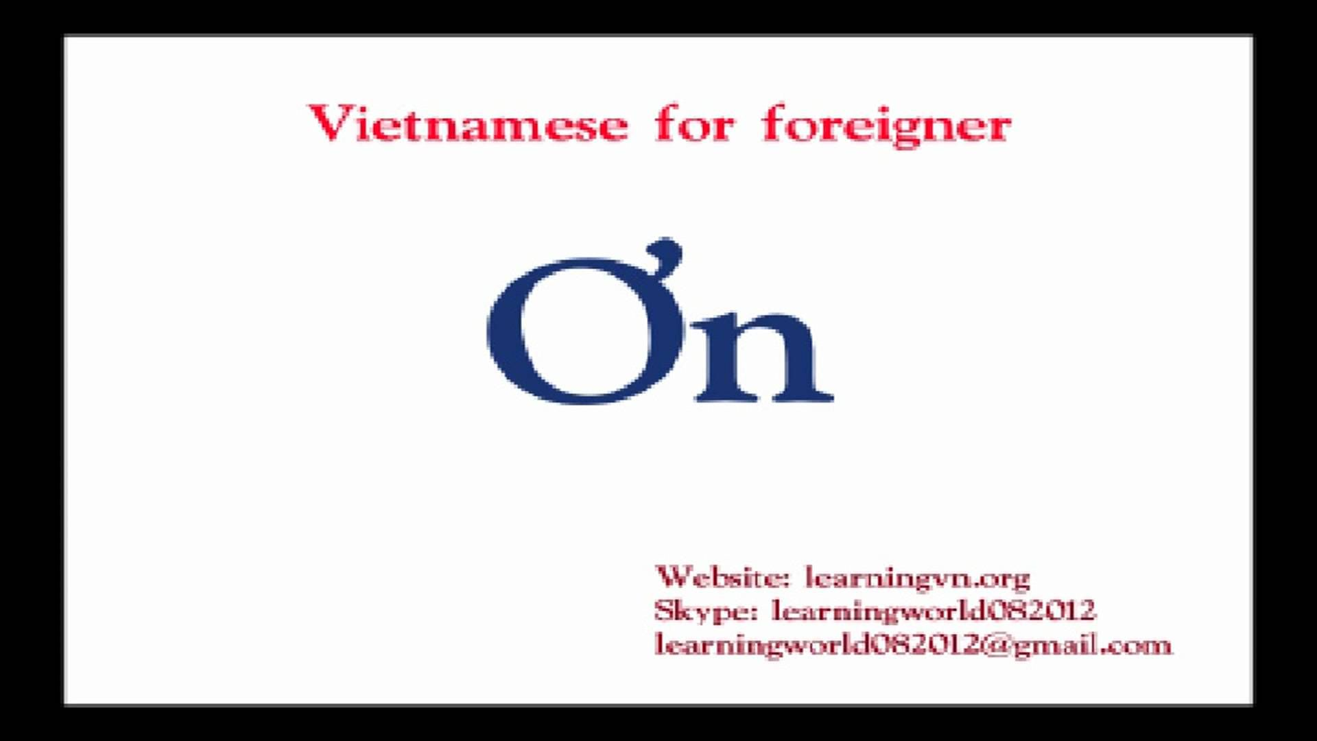 Learn Vietnamese Alphabet With Images