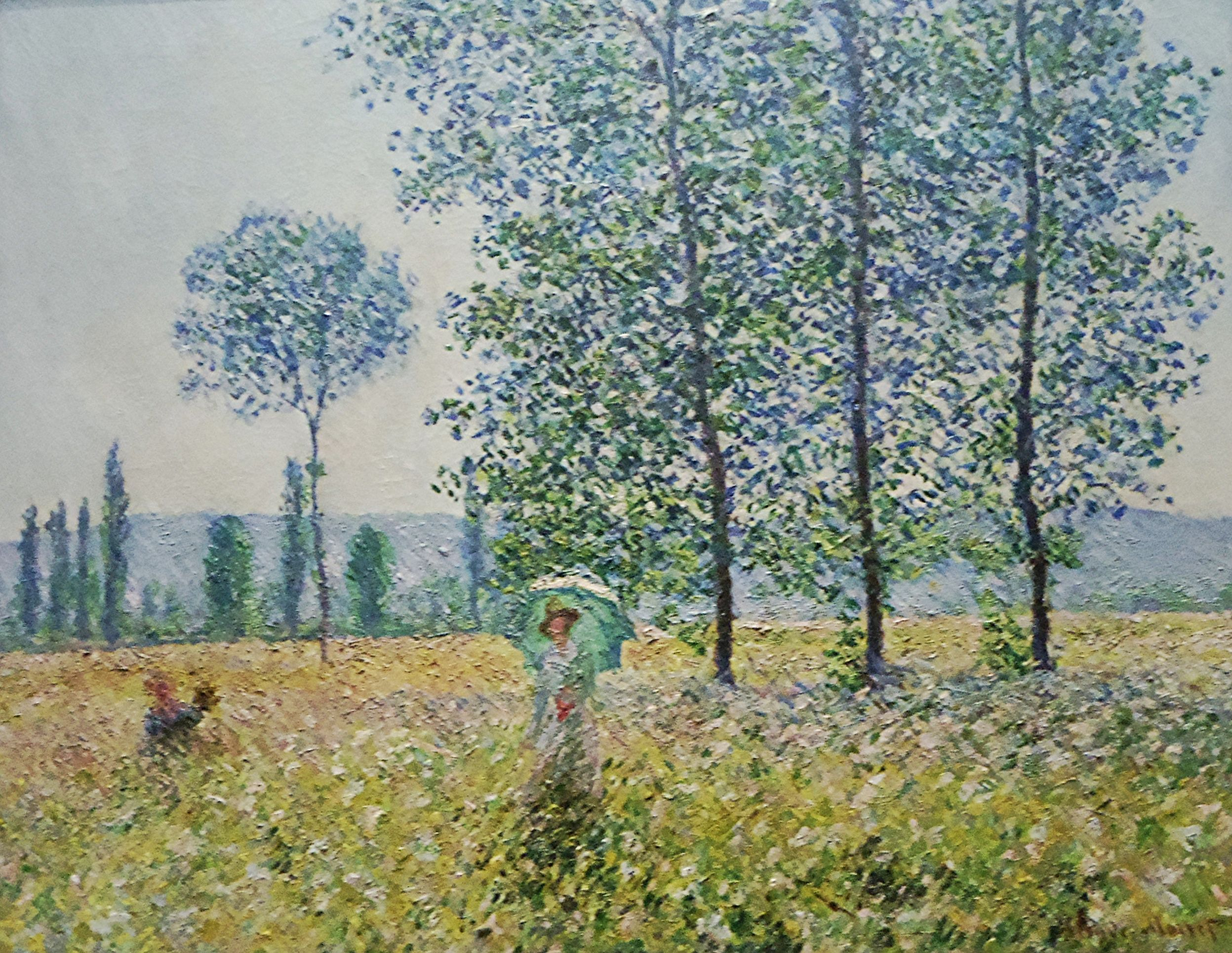 Claude Monet (1840–1926) Peupliers au soleil 1887, Huile sur toile, 74,3 x 93 cm, Staatsgalerie, Stuttgart