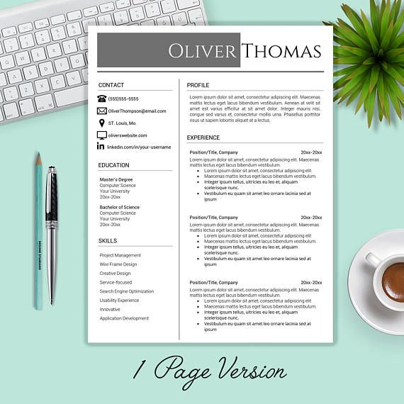 resume template    cv template   cover letter