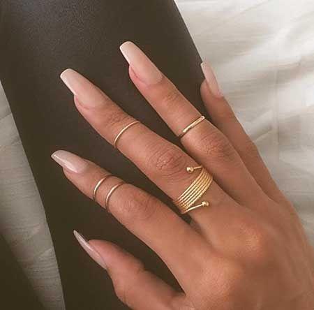 Natural Color Coffin Nail Minimalist Nails Gorgeous Nails Nails