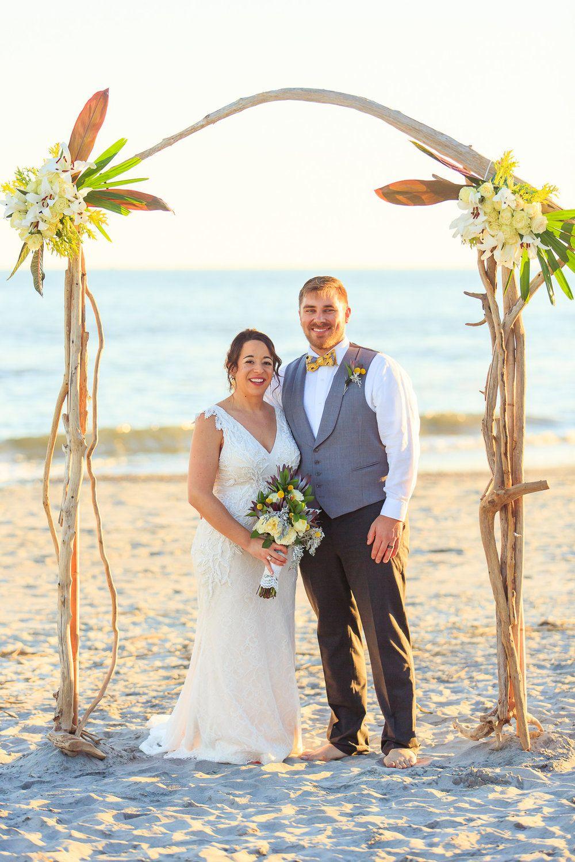 Jessi + Nick Beachfront Regatta Inn Wedding on Folly