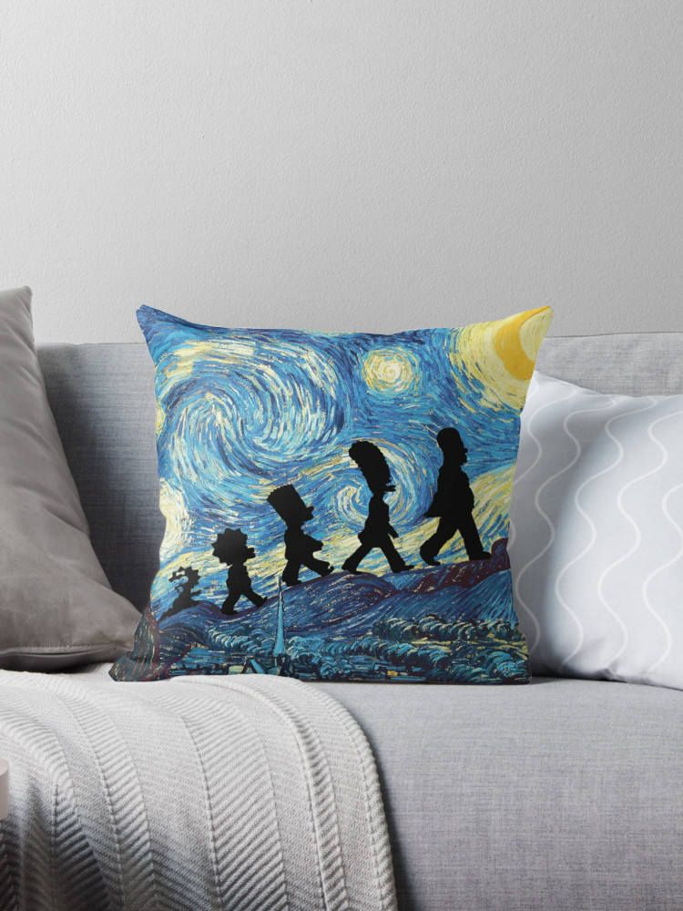 Decorative Throw Pillows Simpsons Art Starry Night Nursery Decorating