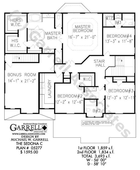 Sedona C 05277 Garrell Associates Inc House Plans How To Plan Floor Plans