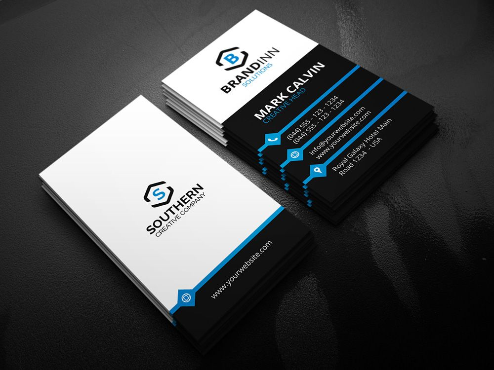 Creative Vertical Business Card   HttpGraphicpickCom