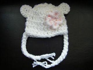 Little Bear New Born Hat Tutorial