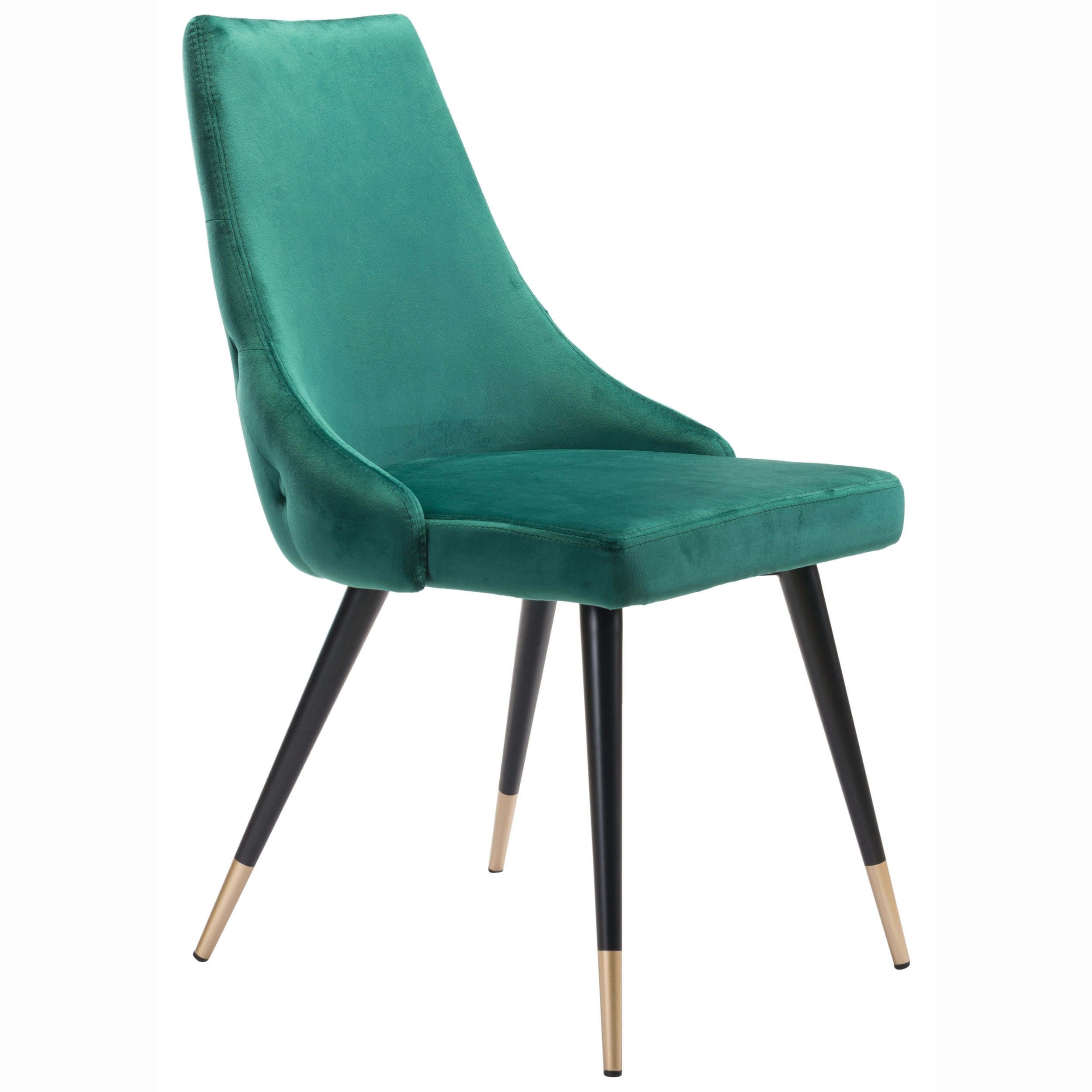 Piccolo Dining Chair Green Set Of 2 Fabric Dining Chairs