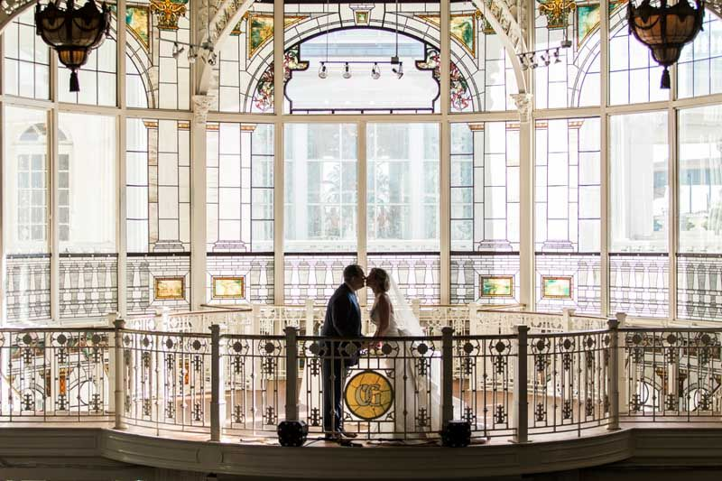 Bride and Groom - Elegant Wedding at Orchid Garden - Downtown ...