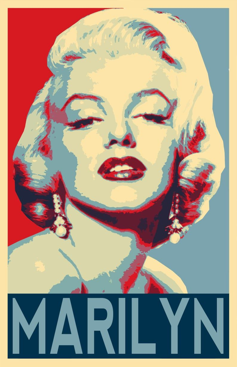 Marilyn Monroe Hollywood Icon Illustration 6 Pop Art Home Decor In Poster Print Or Canvas Pop Art Pop Art Posters Pop Art Marilyn